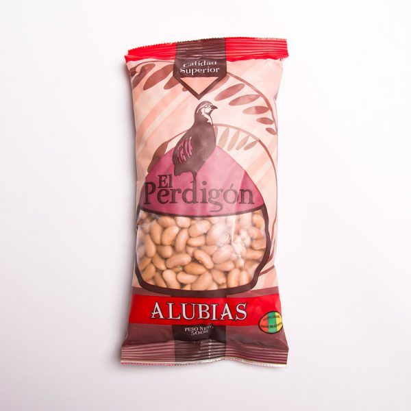 Packaging alubias El Perdigón