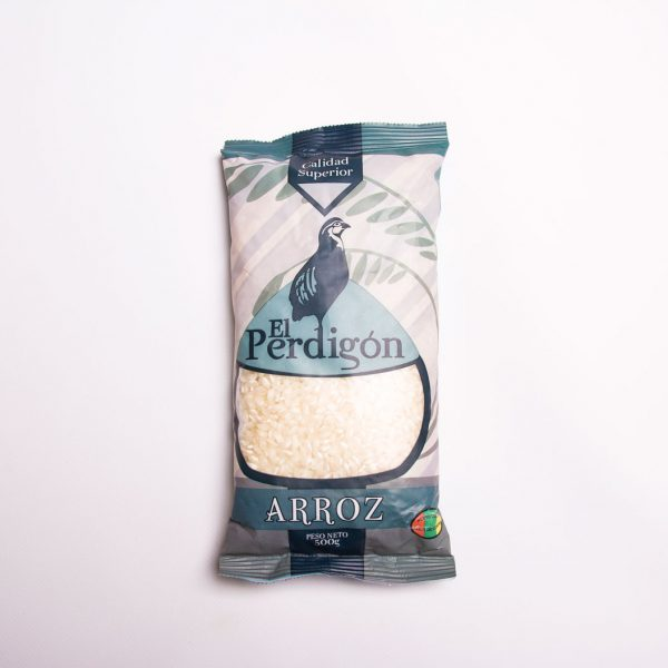 Packaging arroz El Perdigón