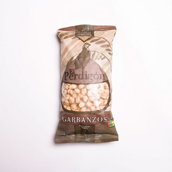 Packaging garbanzos El Perdigón